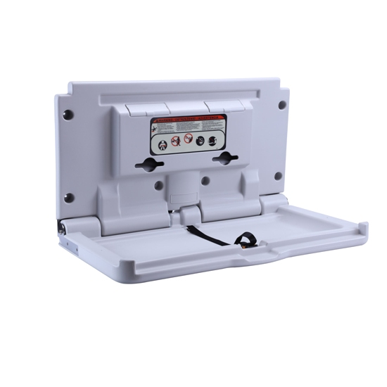 Commercial Hygiene HDPE Fold Down Secure Horizontal Baby Changing Station